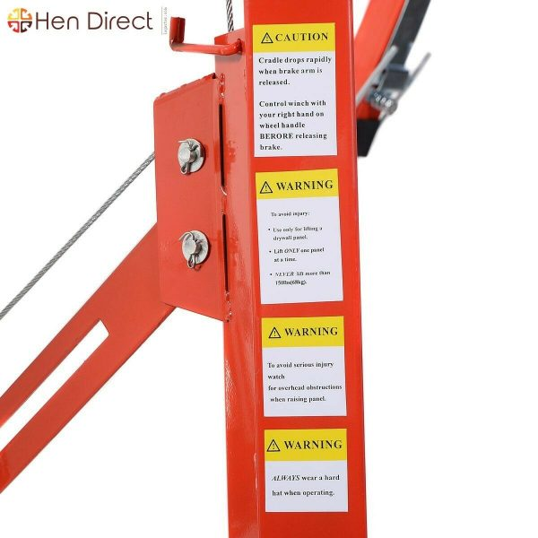 11' Drywall Lift Panel One Person Hoist Dry Wall Jack Construction Winch Lifter