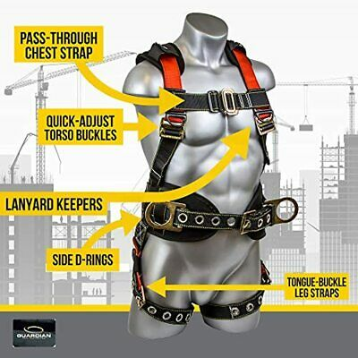 Buy Best 11173 M-L Seraph Construction Harness Side D-Rings Fall Arrest Safety Harnesses