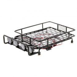 Buy Best 20X(RC Car Parts Roof Rack Luggage Carrier Light Bar for 1:10 RC Cler Axial X7Y2