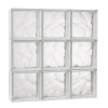 23.25 In. X 23.25 In. X 3.125 In. Wave Pattern Solid Glass Block Masonry Window