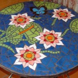 3' Black Marble Round Dining Center lunch room Table Top Inlay malachite blue