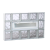 34.75 In. X 21.25 In. X 3.125 In. Frameless Wave Pattern Vented Glass Block Wind