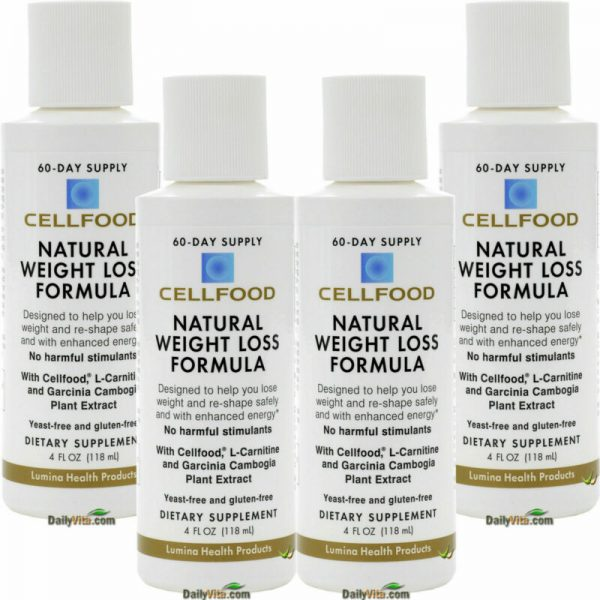 Buy Best 4 x Cellfood Natural Weight Loss Formula 4 oz by Lumina Health - FREE SHIPPING
