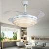 "42"" Remote Control Invisivle Ceiling Fan Light Crystal LED Chandelier w/ remote"
