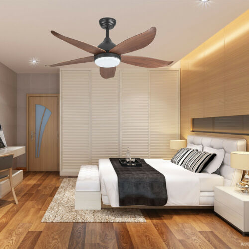 """46"""" LED Ceiling Fan Light Dimmable Chandelier Living Room Deco w/ Remote Control"""