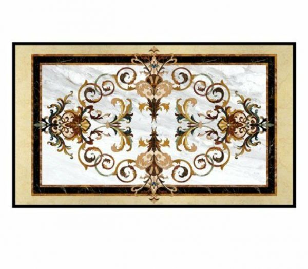 4'X2.5' Pietra Dura dining table top whiteMarble Inlay Art Decorative Handicraft