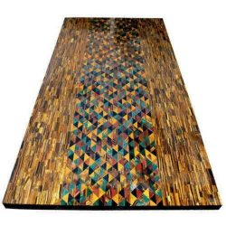 4'x2' tiger eye marble table top dining coffee inlay semiprecous room decor d101