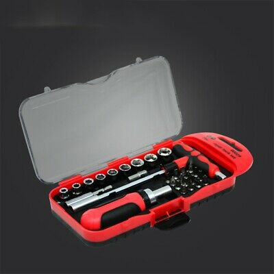 5X(29Pcs Socket Wrench Set Ratchet Wrench for Bicycle Motorcycle Auto Repai Y2H9