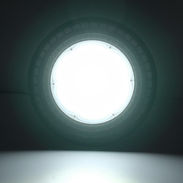 60/100/150/200W LED UFO High Bay Flood Light 6000K Warehouse Industrial Lighting