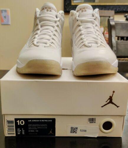 Air Jordan 10 Drake OVO White (2015) Size 10 -  819955-100 - Deadstock