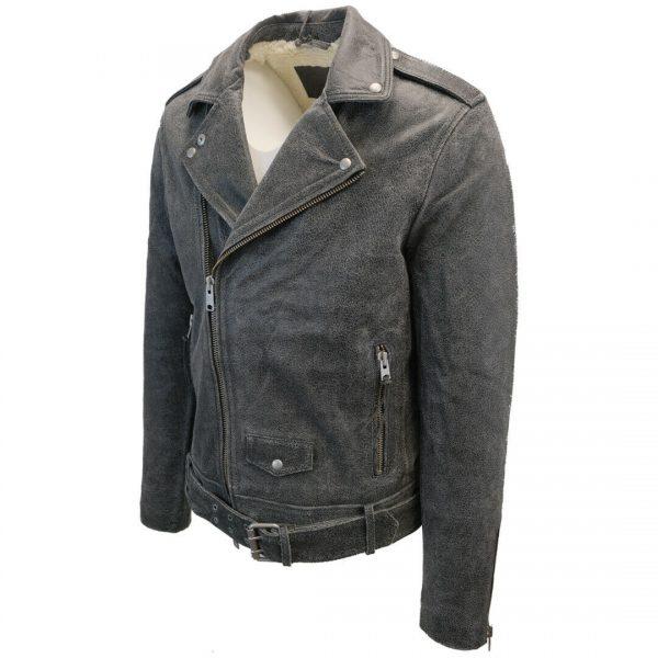 All Saints Men's Black Arashi Biker Leather Jacket (Retail $585) Medium