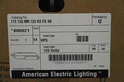 American Electric Lighting Street Light 800921 115 15S MR 120 R3 FG 4B HPS 150W