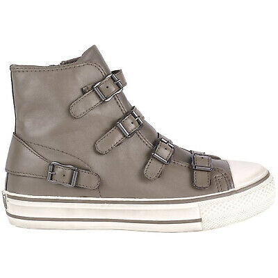 Ash Womens Trainers Virgin A17273 High-top Zip-up Sneakers Leather