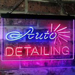 Buy Best Auto Detailing Garage Car Repair Shop Bar Dual Color Led Neon Sign st6-s2233