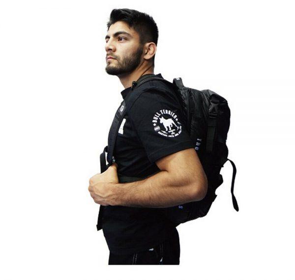 Buy Best BULLTERRIER Backpack STYLE Black Jiujitsu Polyester 4 Multi Pocket 26L