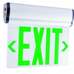 """Buy Best Elco EDGLIT2 Green Two Face 12""""W Edge Lit Recessed Led Exit Sign"""