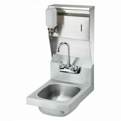 "Krowne 12"" Wide Space Saver Hand Sink with Soap & Towel Dispenser Compliant,"