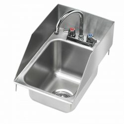 "Krowne 12"" x 18"" Drop-In Hand Sink with Side Splashes, 5"" Deep Bowl, HS-1225"
