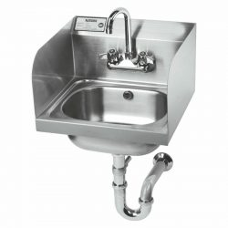 "Krowne 16"" Wide Hand Sink with Side Splashes and P-Trap with Overflow, HS-5"