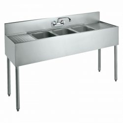 "Krowne 60"" Convenience Store Sink, 3 Compartments, CS-1860"
