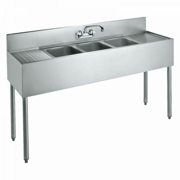 "Buy Best Krowne 60"" Convenience Store Sink, 3 Compartments, CS-1860"