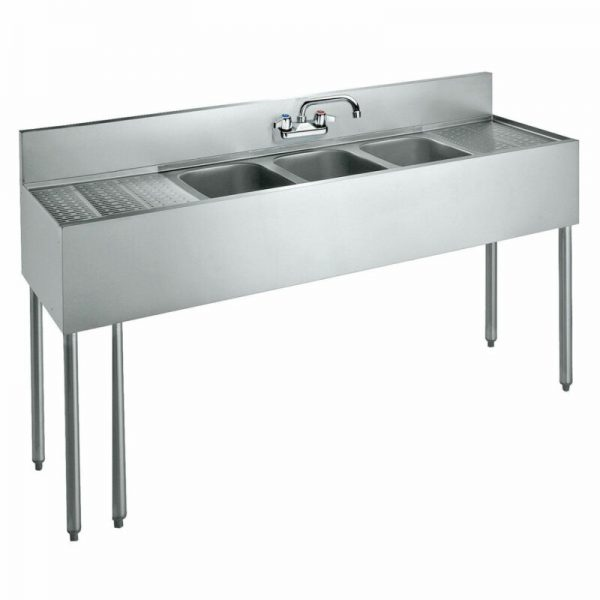 "Krowne 72"" Convenience Store Sink, 3 Compartments, CS-1872"