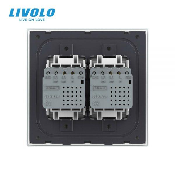 LIVOLO US Standard Zigbee Touch Light Switches Double 1/2gang 1/2way