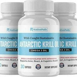 NativePath Antarctic Krill Oil - 1 2 or 3 Packs - 90 Softgels per Pack - Pure So