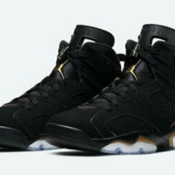 Nike Air Jordan 6 Retro Basketball Shoes for Men, Size US 9 - Black