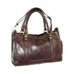 Nino Bossi Women's   Amber Leather Satchel Chocolate Size OSFA