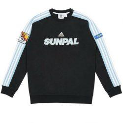 Palace Adidas Sunpal Crewneck Sweatshirt Size XL Black