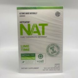 Pruvit Keto NAT LIME TIME Ketones 20 Packs OTG Caffeine Free UNOPENED EXP 11/21