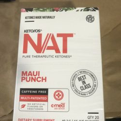Pruvit Keto OS NAT Maui Punch (caffeine-free) -Sealed Box  -20 OTG Packets