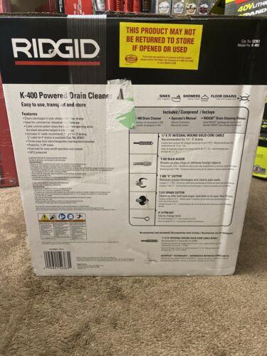 "Buy Best RIDGID 52363 K-400 Drain Cleaning Machine, C-32 3/8"" x 75' Cable **BRAND NEW**"