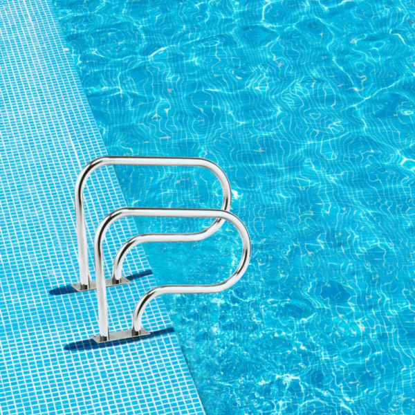 Stainless Steel Swimming Pool Hand Rail With Base Plate
