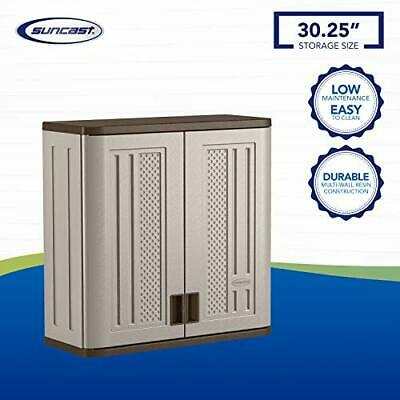 Buy Best Suncast BMC3000 Cabinet-Resin Construction for Wall Mounted Garage Storage,...