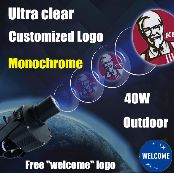 USA 40W Outdoor  LED GOBO Projector Advertising Logo Light with Custom 1 Color