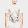VERSACE MEDUSA HEAD EMBOSSED MODEL MEN T-SHIRT - WHITE COLOR - ALL SIZES