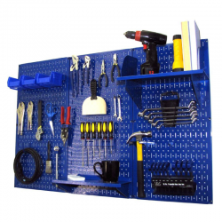 Buy Best Wall Control Metal Pegboard Standard Tool Storage Kit Blue Garage Organizer