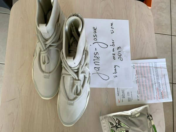 air fear of god light bone size 10.5 DS With Receipt