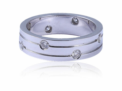 Buy Best 0.30 Cts Round Brilliant Cut Natural Diamonds Unisex Band Ring In 585 14K Gold
