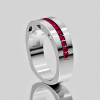 Buy Best 14KT WHITE GOLD Channel Set  Ruby Man's Ring Size 9