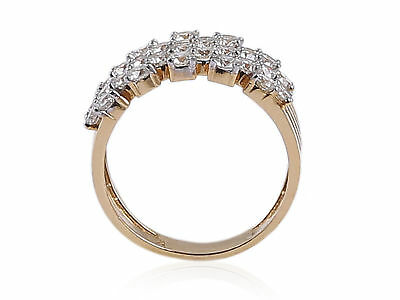 2.16 Cts Round Brilliant Cut Diamonds Anniversary Ring In 585 Stamped 14K Gold