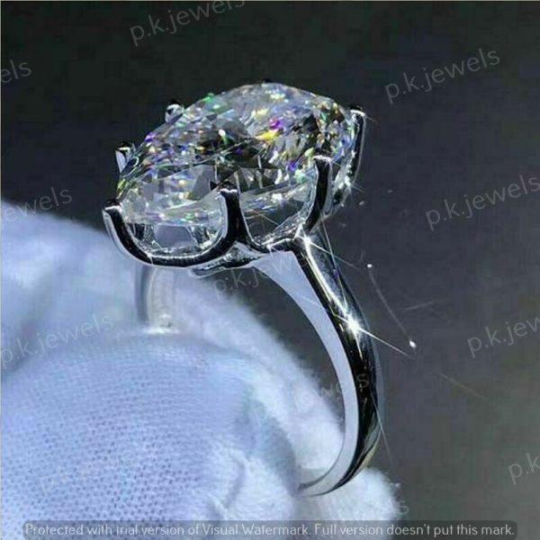2.50Ct Pear-Cut Brilliant Moissanite Solitaire Engagement Ring 14k White Gold