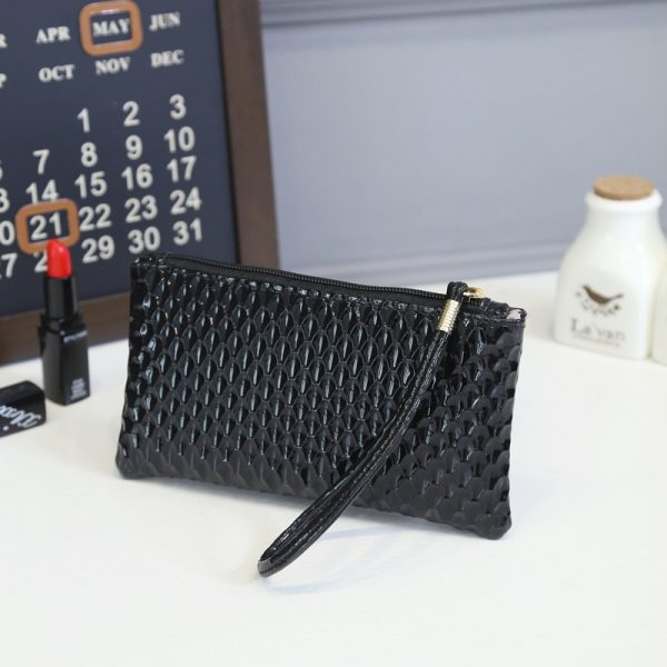 New 2018 Coin Purse Fashion Brand Design Women Bags Wristlet Small Long Clutch and Handbags Phone PU Leather Girls Money Holder