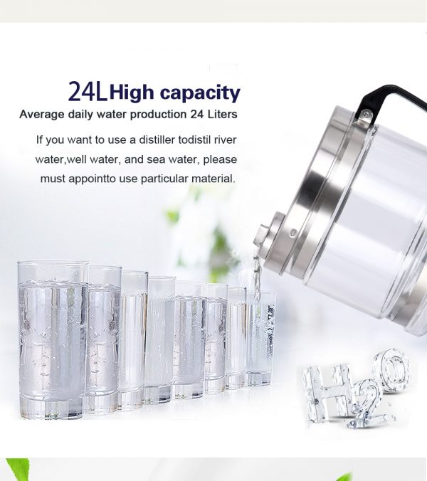 4L Household Water Distiller Distilled Water Machine Distillation Purifier Filter Dental Water Jar Carbon FilterStainless Steel