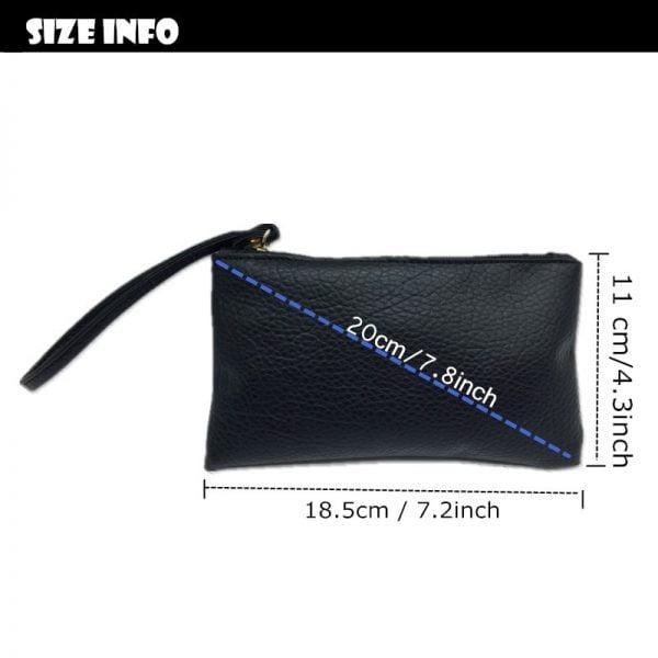 2019 Solid Simple Men Women Wallets PU Leather Bag Zipper Handy Clutch Coin Purse Phone Key Holder Wristlet Portable Handbag