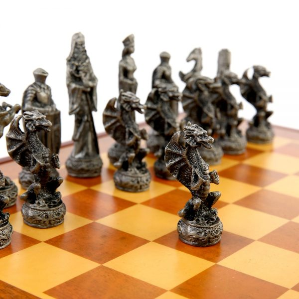 Chess Set Chess Free Shipping High Quality Zinc Alloy Metal Dragon Character Chess Setse Chess Set Luxury Themed Chess