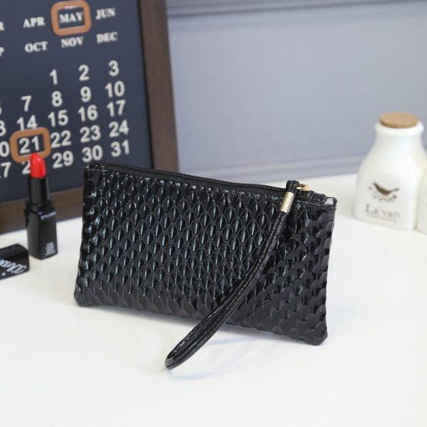 New 2019 Coin Purse Fashion Brand Design Women Bags Wristlet Cute Small girls long Clutch and Handbags Phone Top PU Leather