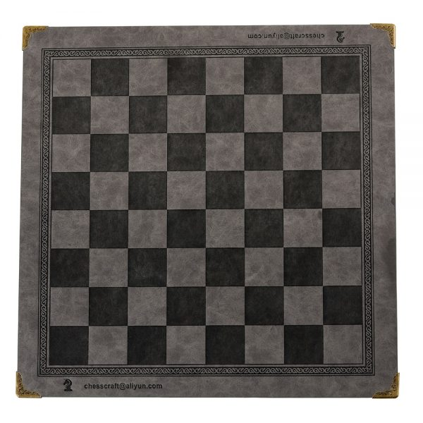 Chess Board Unique Design Of Embossed Pattern Leather Chess Board Board General Universal Chess Board Portable Checkerboard